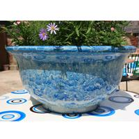 Aegean Bowl, Powder Blue-Lättviktskruka i fiberclay Aegean Bowl Powder Blue