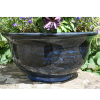 Aegean Bowl, Midnight Blue-Lättviktskruka i fiberclay Aegean Bowl Midnight Blue