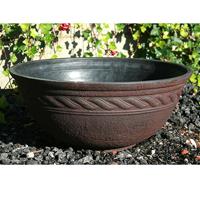 Corinthian Bowl, svart/terrakotta-Lättviktskruka i fiberclay Corinthian Bowl Terrakotta