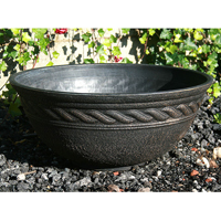 Corinthian Bowl, svart/guld-Lättviktskruka i fiberclay Corinthian Bowl, Svart