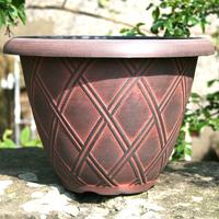 Bell Lattice Planter, svart/terrakotta-Lättviktskruka Bell Lattice Planter Svart/terrakotta