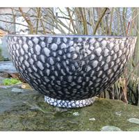 Cathay Bowl, svart/silver-Lättviktskruka Cathay Bowl svart/Silver