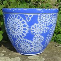 Chengdu Patio Pot, Pantone Dark Blue, Lättviktskruka Chengdu Patio Pot Pantone Dark Blue