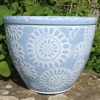 Chengdu Patio Pot, Pantone Light Blue-Lättviktskruka Chengdu Patio Pot Pantone Light Blue