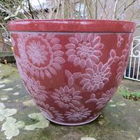 Chengdu Patio Pot, terrakotta/vit-Lättviktskruka Chengdu Patio Pot Terrakotta/Vit
