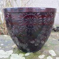 Chengdu Patio Pot, svart/koppar-Lättviktskruka Chengdu Patio Pot Svart/Koppar