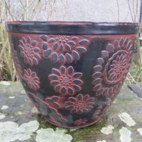 Chengdu Patio Pot, svart/terrakotta-Lättviktskruka Chengdu Patio Pot Svart/Terrakotta
