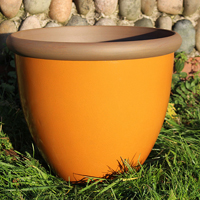 Belair Planter, Amber 40 cm-Belair Planter Amber 40cm lättvikskruka i fiberclay