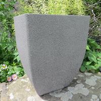 Soho Square Planter, Limestone 35 cm-Lättviktskruka Soho Square Planter i fiberclay Limestone, 35 cm