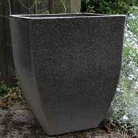 Soho Square Planter, Old Stone, 43 cm-Lättviktskruka Soho Square Planter i fiberclay Old Stone, 43 cm