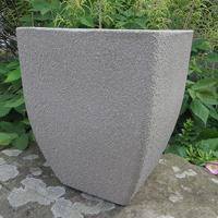Soho Square Planter, Limestone 28 cm-Lättviktskruka Soho Square Planter i fiberclay Limestone, 28 cm