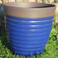 Florence Planter, Diamond Blue 40 cm-Lättviktskruka Florence Planter Diamond Blue 40 cm