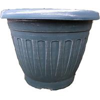 Thimble Round, grön/silver 25 cm-Lättviktskruka Thimble Round Grn/silver