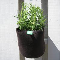 Filtkruka vägg rund-Rund kruka i filt för odling på balkong och terrass