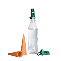 Bevattnings med petflaska för krukväxter
