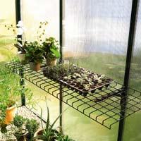 Fällbar växthushylla-Nedfällbar hylla för växthuset