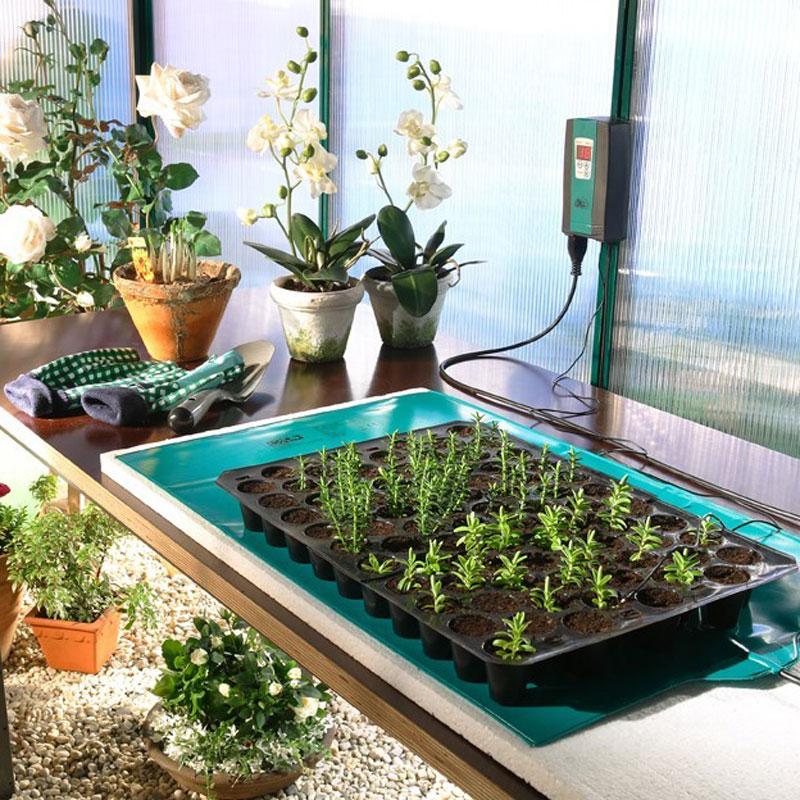 Undervärmematta 40 x 65cm, 42W-undervärmematta för odling av fröer och sticklingar