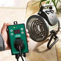Värmefläkt Palma 2,0 med termostat-Värmefläkt för växthus och uterum