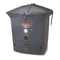 Snabbkompost 550, grå-Värmekompost med termometer