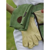 Skinnhandskar  med mockaskaft, gröna, strl 7,5, Kvalitetshandskar för trädgåren i grön mocka