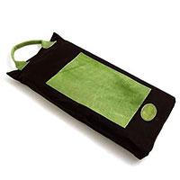 Knädyna, vaxad bomull/läder, grön-Knädyna i vaxat bomull och läder