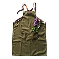 Professionellt trädgårsförkläde, khaki-Professionellt tradgårdsförkläde i khakifärgad canvastyg