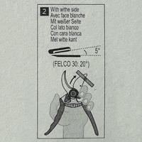 Felco Slipsten 902, Instruktionsbild till slipsten