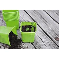 Plastkruka Limegrön, 8 cm, Limefärgad plastkruka för odling