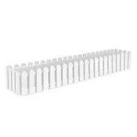 Blomlåda Landhaus för balkong och terrass 100x20 cm, vit
