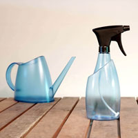 Fuchsia sprayflaska och vattenkanna, topas blue