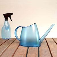 Fuchsia vattenkanna och sprayflaska, topas blue