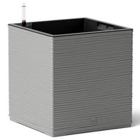 Självvattnande kubformad kruka Casa Cosy Cube, grå