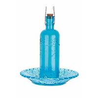 Fågelmatare flaska, blå-Fågelmatare, blå flaska