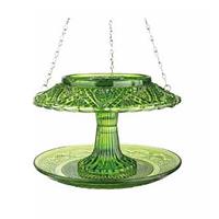 Fågelmatare i pressglas, grön-Fågelmatare i pressglas, grön