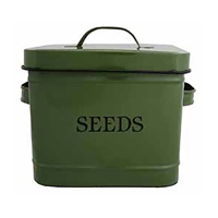Frölåda i zink, grön-Låda till fröer, grön