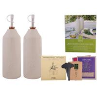 Olivolja/vinäger set med fröer#-Set olja-vinäger, örtodling