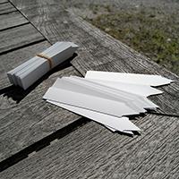 Plantetiketter 50-pack vit-växtetiketter