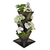 Tower, vertikalodling, medum-Vertikalt odlingssystem, planteringsset Tower 4