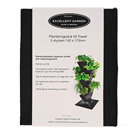 Planteringsduk till Tower, 5-pack-Planteringsduk i geotextil till vertikalodlingsystemet tower