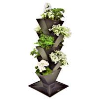 Tower, vertikalodling, large-Vertikalt odlingssystem, planteringsset Tower 5