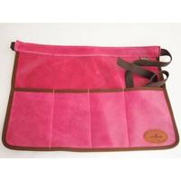 Skinnförkläde/trädgårdsbälte - rosa-Skinnförkläde för trädgården, rosa-cerise