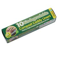 Biologiskt nedbrytbar påse till Compost Caddy - 30 liter, Kompostpåsar, nedbrytbara av vegetarisk stärkelse