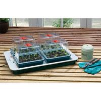 Växthus med undervärme - Four Top-Miniväxthus med termostat - Four Top