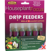 Krukväxtnäring, Houseplant Focus Drip Feeders, 6-pack-6-pack Krukväxtnäring i droppform, Houseplant Focus Drip Feeders
