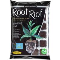 Root Riot - Bricka med 24 kuber-Rotningskuber, för sticklingar och fröer
