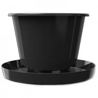 Twist Pot, kruka med fat-Twist Pot miljövänlig planteringskrukra