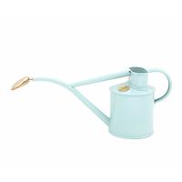 Vattenkanna, pulverlackad, ljusblå, 1 L-Pulverlackad vattenkanna från HAWS med avtagbar rosstril, ljusblå, 1 liter