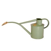 Vattenkanna, pulverlackad, salviagrön, 1 L-Pulverlackad vattenkanna från HAWS med avtagbar rosstril, salviagrön, 1 liter