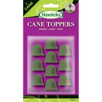 Blomstödstopp, CaneTopper oliv, 10-p, CaneToppers Växtstödspinnar, olivgröna