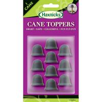 Växtstöd, CaneTopper svart, 10-p, Blompinneskydd CaneToppers svart